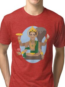 illustration of Hindu deity lord Vishnu Tri-blend T-Shirt