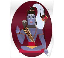 illustration of Hindu deity lord Shiva Poster