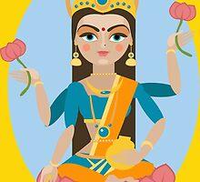illustration of Hindu deity mother Lakshmi by OlgaBerlet