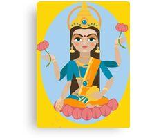 illustration of Hindu deity mother Lakshmi Canvas Print