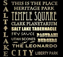 Salt Lake City Utah Famous Landmarks by Patricia Lintner