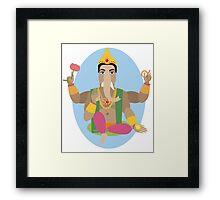 illustration of statue  Lord Ganesha   Framed Print