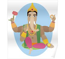 illustration of statue  Lord Ganesha   Poster