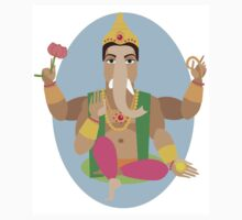 illustration of statue  Lord Ganesha   Kids Clothes