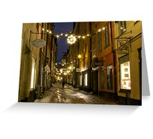 Old Town, Stockholm Greeting Card