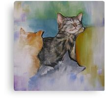 A Cuddle of Cats! Canvas Print