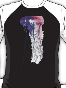 Hand drawn watercolor jellyfish. Vector illustration. Sea collection. T-Shirt