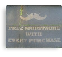 Free Moustache Canvas Print