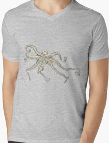 Vector illustration of hand drawn with octopus Mens V-Neck T-Shirt
