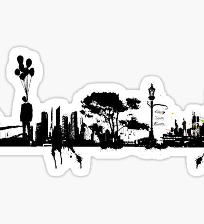 city suicide Sticker