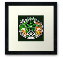 Leprechaun Skull 3 Framed Print