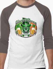 Leprechaun Skull 3 Men's Baseball ¾ T-Shirt