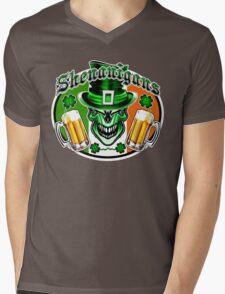 Leprechaun Skull 3 Mens V-Neck T-Shirt