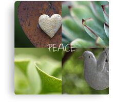 Peace  - JUSTART ©  Canvas Print