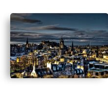 Edinburgh Tiltshift Canvas Print