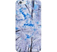 Upstate Supply Co- Snowy Trees w/o Logo iPhone Case/Skin