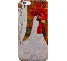 I Know I am Lovely - White Rooster iPhone Case/Skin