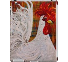 I Know I am Lovely - White Rooster iPad Case/Skin
