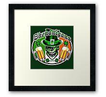 Irish Leprechaun Skull 2: Shenanigans Framed Print