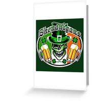 Irish Leprechaun Skull 2: Shenanigans Greeting Card