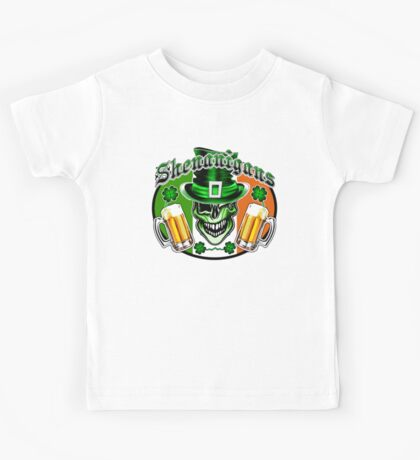 Irish Leprechaun Skull 2: Shenanigans Kids Tee