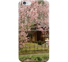 Toshin-an (tea house) Through the Cherries at the Birmingham Botanical Gardens iPhone Case/Skin