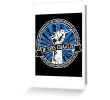 Je Suis Charlie-In Black Greeting Card