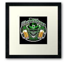 Leprechaun Skull 1: Shenanigans 2 Framed Print