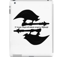 Scythe (x2) - Buffy - Julienne Preacher Black iPad Case/Skin