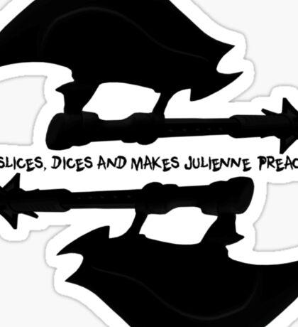 Scythe (x2) - Buffy - Julienne Preacher Black Sticker