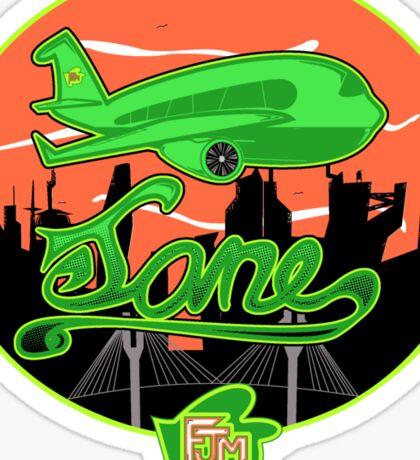 Plane Jane Sticker