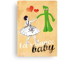 gumby dance Canvas Print