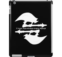 Scythe (x2) - Buffy - Julienne Preacher White iPad Case/Skin
