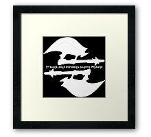 Scythe (x2) - Buffy - Julienne Preacher White Framed Print