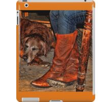 Boots and Buddy Painted iPad Case/Skin