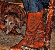 Boots and Buddy Painted by Judy Vincent