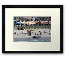 A day at Atlantic City Framed Print