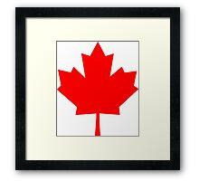 Canadian Maple Leaf Framed Print