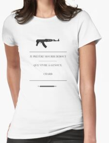 charlie hebdo - Charb Womens Fitted T-Shirt