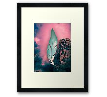 The weight of the mountain Framed Print