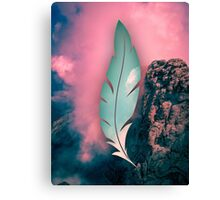 The weight of the mountain Canvas Print