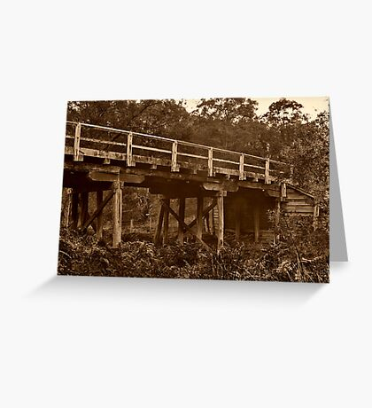 """Spanning Time and Sutherland's Creek"" Greeting Card"