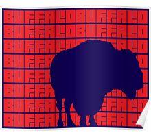 Buffalo buffalo Buffalo buffalo buffalo buffalo Buffalo buffalo. (Red) Poster