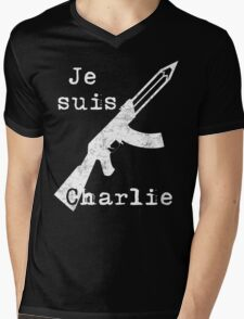 Je suis Charlie #2 Mens V-Neck T-Shirt