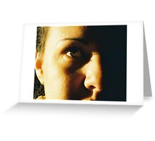 Light in her eye Greeting Card