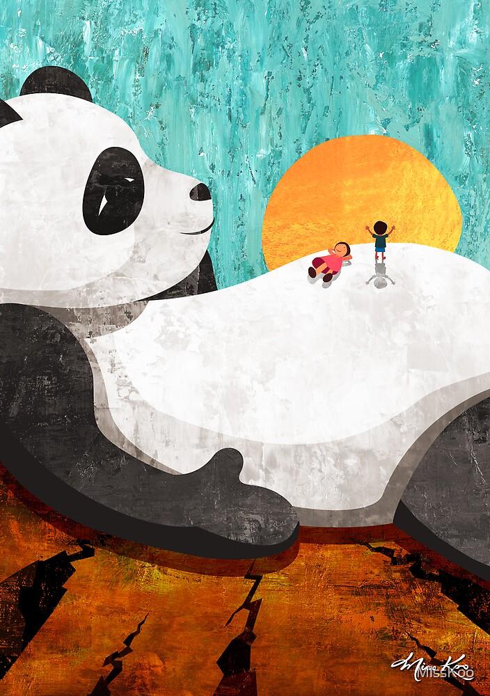 Shock Absorbing Panda by MissKoo