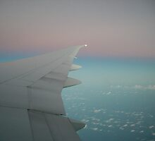 In the air to Vancouver, Canada by Melissa Coulter