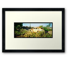 stepping back in time..... desert relic Framed Print