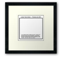 Your Cartoon Framed Print