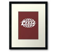 Warp Records logo (White) Framed Print
